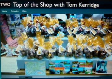 The display at the Farm Shop, Malhamdale in the Yorkshire Dales